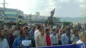 کازرون.تجمع اعتراضی نسبت به جدایی بخش هایی از کازرون.970127 1